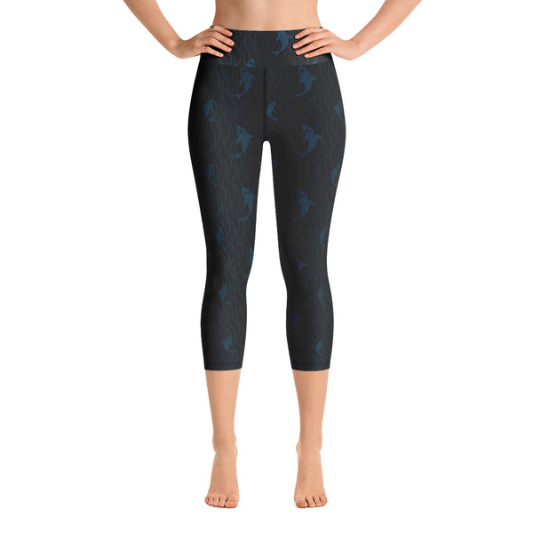 Shark Wave Capri Leggings