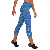 Blue Wave Capri Leggings