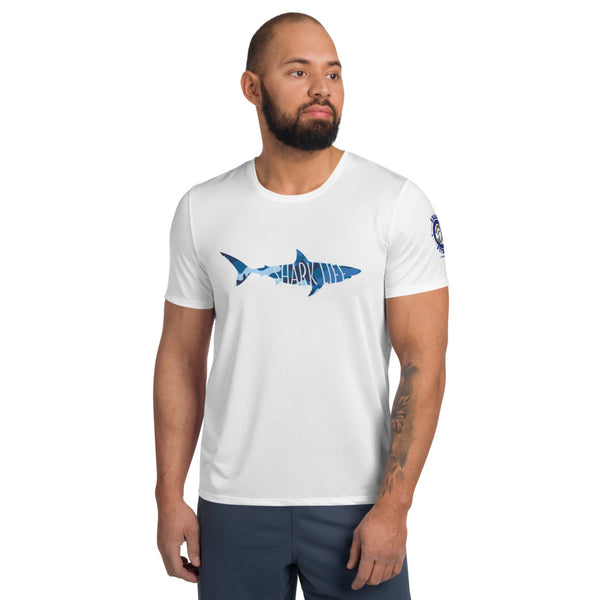 Shark Life Camo Men's Athletic T-shirt