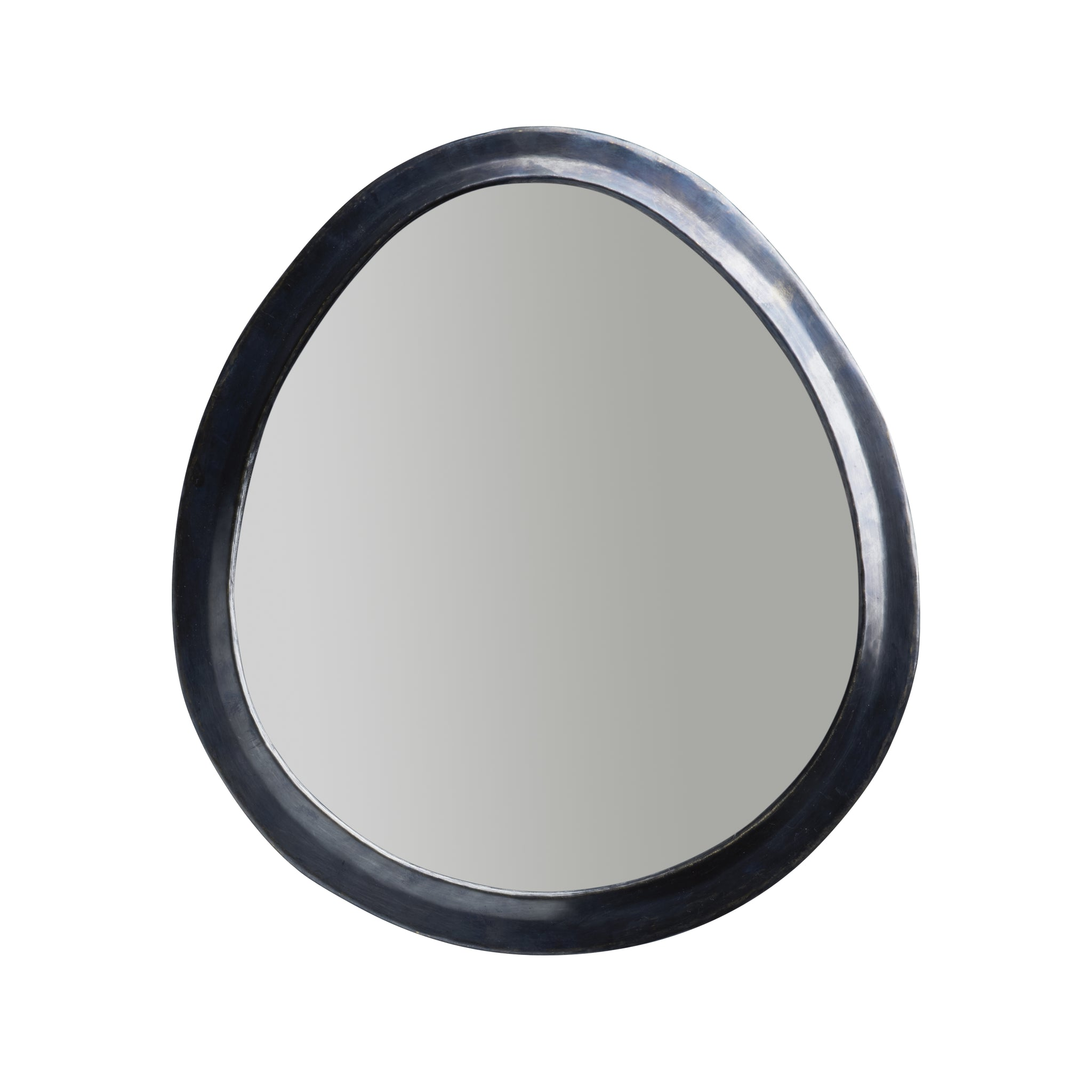 Egg shaped Mirror ( Phantom Grey 40 x 45)