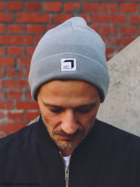 Beanie Hat grey Greentech Festival 2020 sustainable Merch