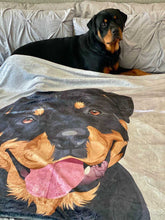 Load image into Gallery viewer, Rotweiler custom pet blanket