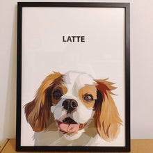 Load image into Gallery viewer, Dog Portrait Pet Portrait cavalier king charles spaniel