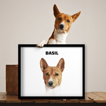 Load image into Gallery viewer, Custom Pet Portrait (Framed)