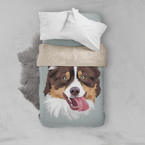 Custom pet duvet cover