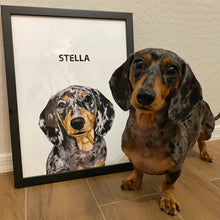 Load image into Gallery viewer, dachshund dog portrait