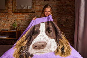 custom we furry dog blanket