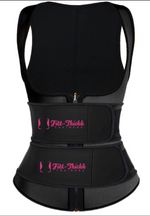 Load image into Gallery viewer, Black fitt-thickk compression slimming vest