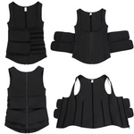 Load image into Gallery viewer, Compression vest slimming shaper black fitt-thickk