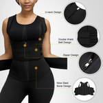 Load image into Gallery viewer, u-neck design slimming vest double strap waist trainer