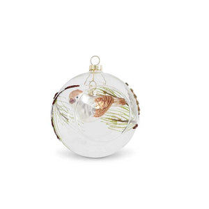 "5"" Round Glass Ornament"
