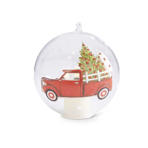 "5"" LED Ornament with Red Truck"