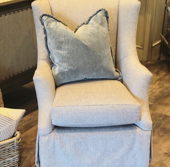 Cadence Swivel Glider in Persall Dove Fabric