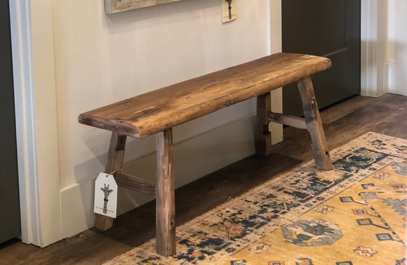 4' Reclaimed Wood Bench