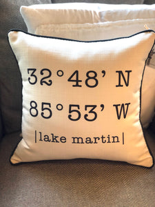 Lake Martin Coordinate Pillow