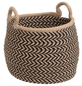 Taupe and Black Preve Basket