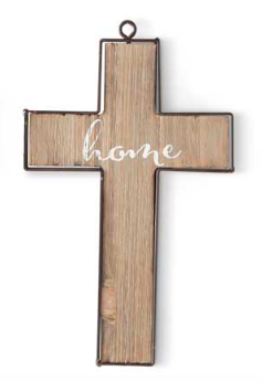 Barnwood Cross Ornament