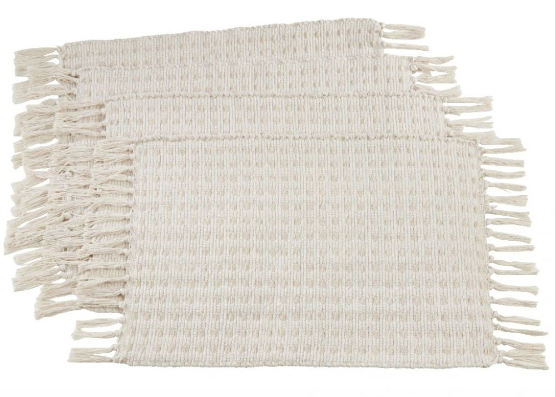 Dashed Woven Placemat Set of 4