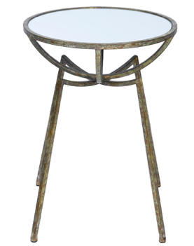 Alison Champagne Gold Mirrored Accent Table