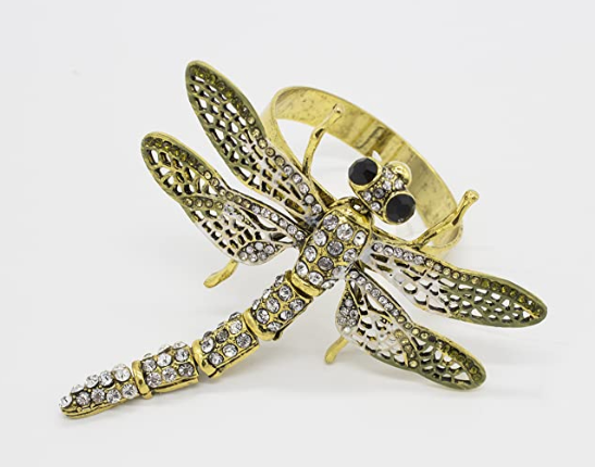 Dragonfly Napkin Rings Set of 2