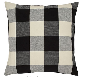 Buffalo Plaid Black Pillow