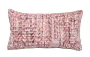 Brook Red and Ivory Pillow