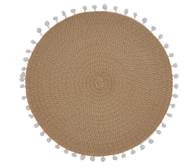 Pom Pom Placemat Set of 4 Natural