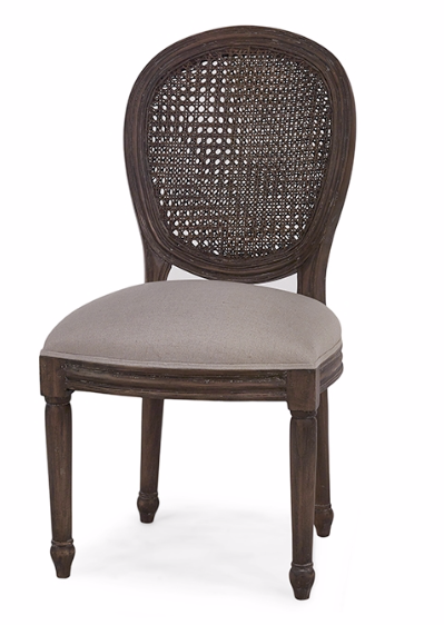 Tulip Rattan Back Dining Side Chair