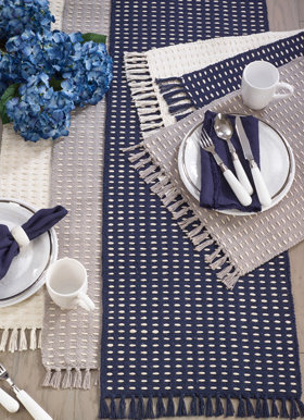 Dashed Woven Table Runner