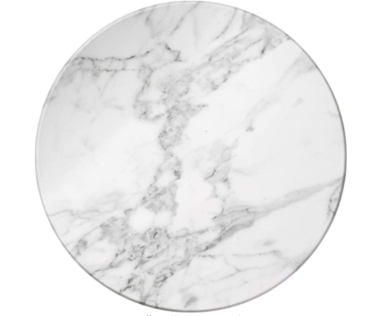 White Marble Round Serving Tray