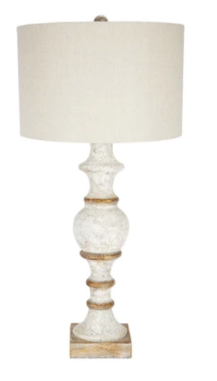 French White Spindle Lamp