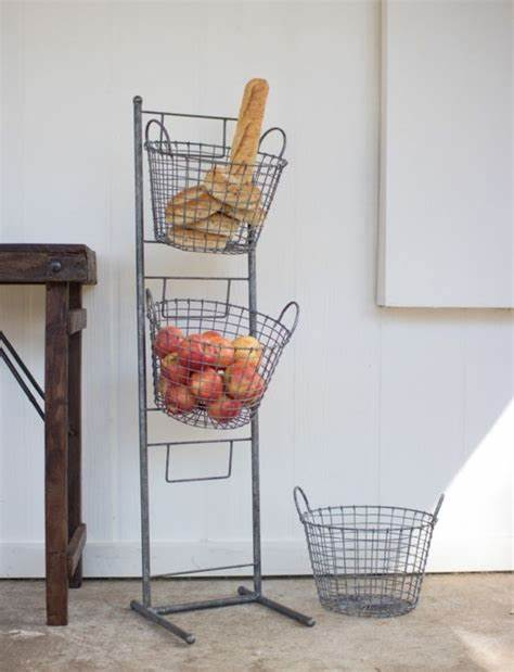 Display Stand with 3 Baskets