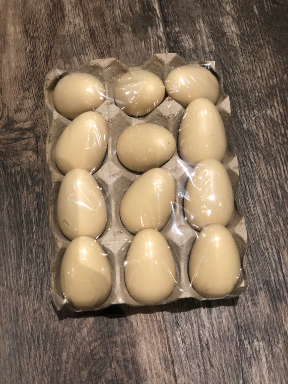 Crate of 12 Wooden Eggs