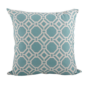 Geo Design Pillow Aqua