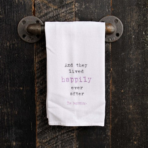 And they lived happily Kitchen Towel