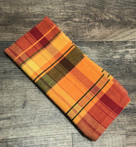Orange Plaid Napkin