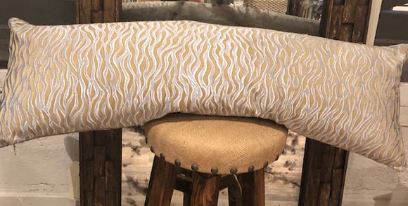Khaki and Grey Lumbar Pillow 42