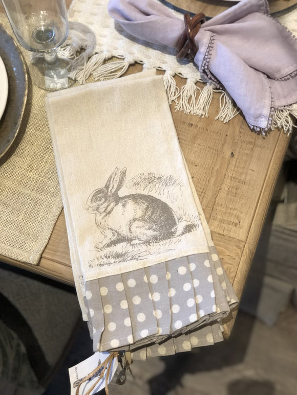 Rabbit Polka Dot Towel