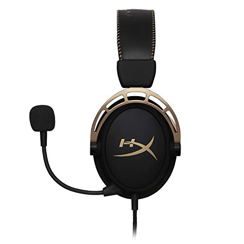 HyperX HX-HSCA-GD/NAP Cloud Alpha Or - Casque Gaming avec control audio intégré