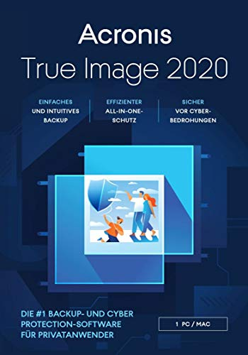 Acronis True Image 2020|Advanced|1 Appareil|1 An|PC/Mac/Android/iOS|Telechargement