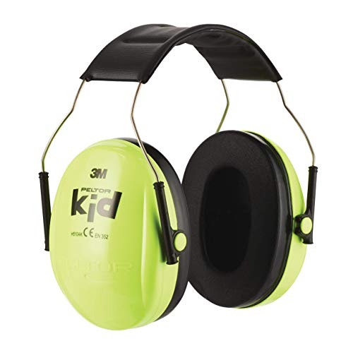 3M H510 Peltor Kid Casque antibruit Vert Fluorescent