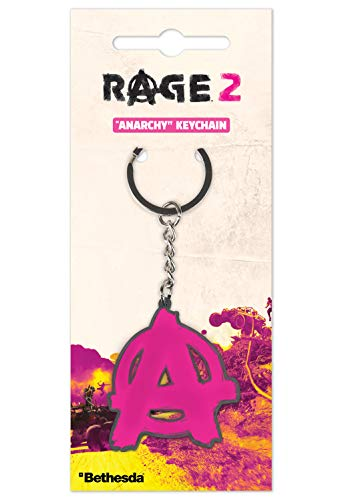 Gaya Entertainment Rage 2 Metal Keychain Anarchy Keyrings