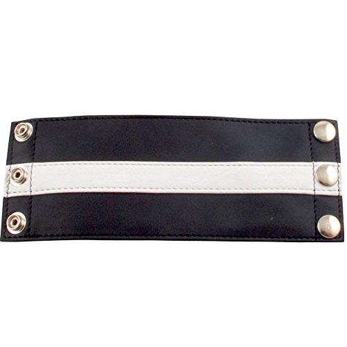 Mister B. Leather Armband Wallet – Black with Coloured Stripes – 8.5 Inch