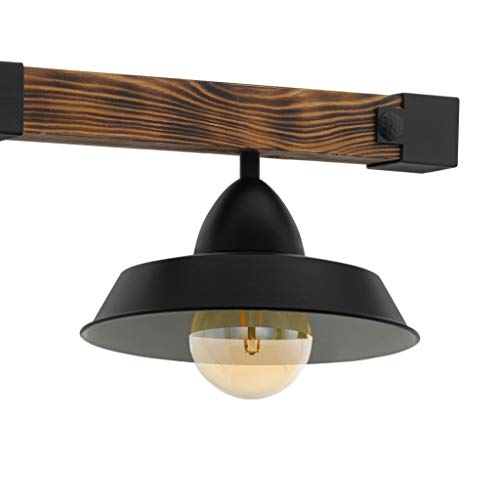 EGLO Serie OLDBURY Suspension 3 ampoules Noir  marron  rustique.
