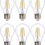 AmazonBasics Professional Lot de 6 Ampoule LED Culot Edison à vis E27 Équivaut à 60 W À filament en verre transparent Intensité variable