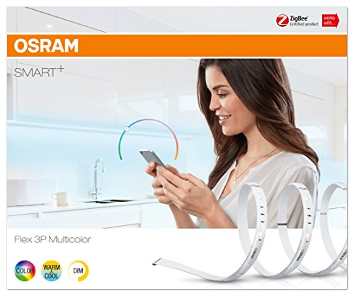 OSRAM Smart+ Ruban LED Flex (Kit de démarrage) Connecté | 180cm de longueur | Dimmable | 16 Millions de couleurs | 11W | Zigbee - Compatible Androi
