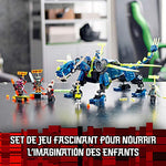 LEGO NINJAGO  Le cyber dragon de Jay  Set de construction avec figures Jay  Nya et Unagami  Figures daction Prime Empire  127 pièces  71711