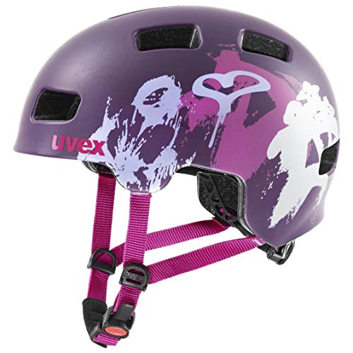 uvex hlmt 4 CC Casque de Bicyclette Unisex-Youth  Purple Matt  51-55 cm