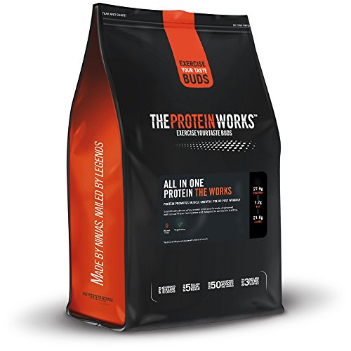 All In One Protéine - Prise de Masse Musculaire - THE PROTEIN WORKS - Avec Glutamine et Créatine - Chocolat - 4kg