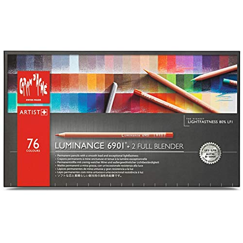Caran DAche J6901776 Artist Luminance Pencil Set (Lot de 76)